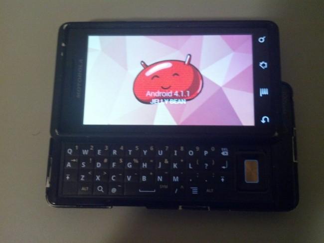 Motorola DROID Jelly Bean Port