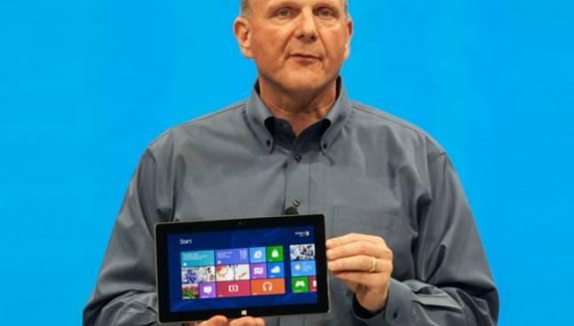 Ballmer Surface RT Windows 8