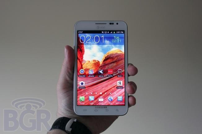 Galaxy Note Sales 2012