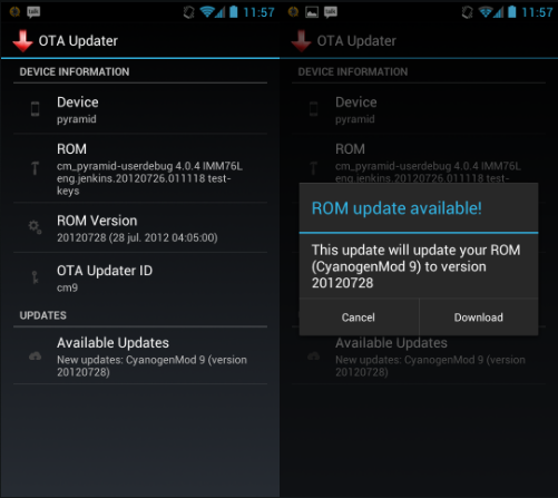 OTA Update Center Android
