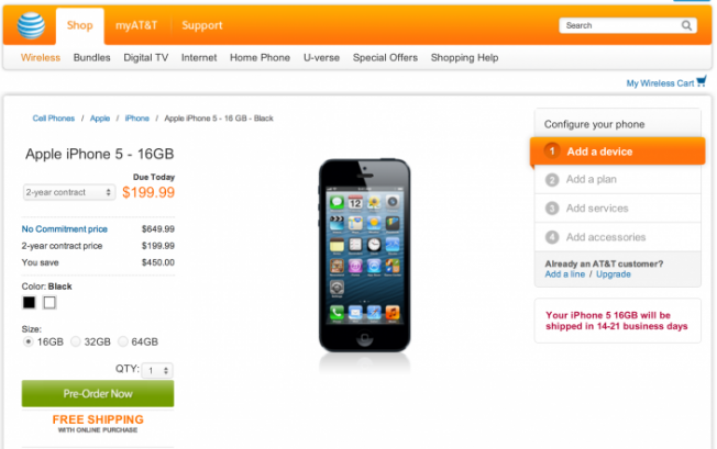 AT&T iPhone 5