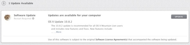 OS X 10.8.2 Update Download