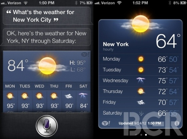 Siri Weather Forecast