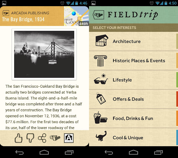 Google Field Trip App