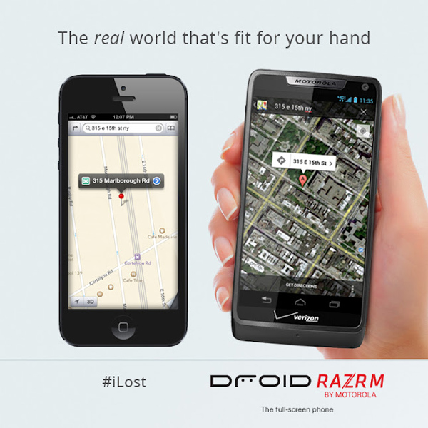 Apple Maps Motorola Criticism