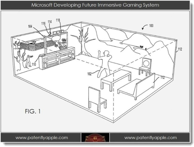Microsoft Gaming Projections Patent