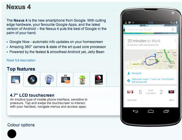 Nexus 4 Release Date