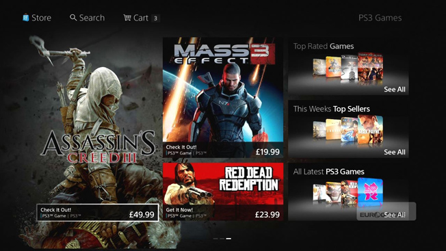 Sony PlayStation Store Redesign