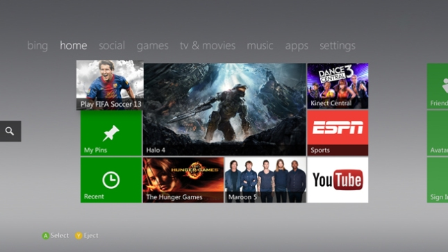 Xbox 360 Fall Dashboard Update 2012