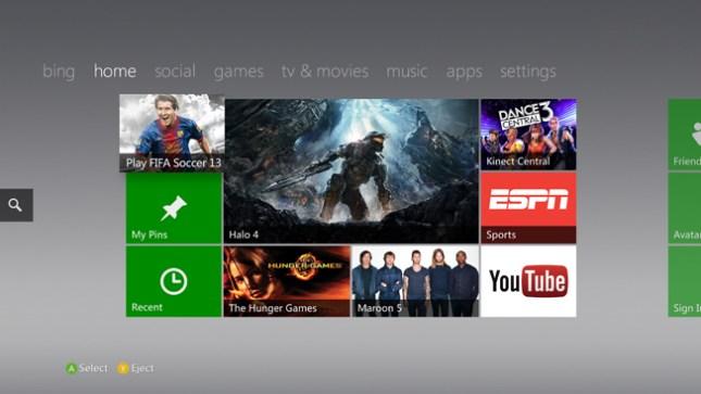 Xbox 360 Fall Dashboard Update 2012