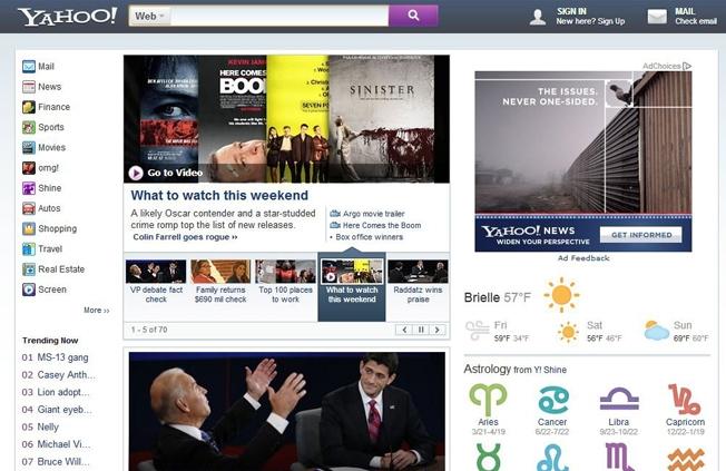 Yahoo Homepage Redesign