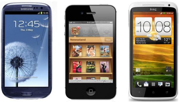 Apple Samsung HTC