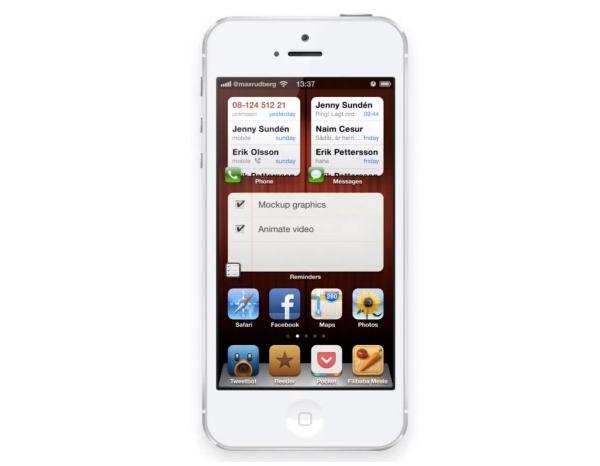iOS Widget Concept Video