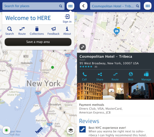 Nokia HERE Maps iPhone