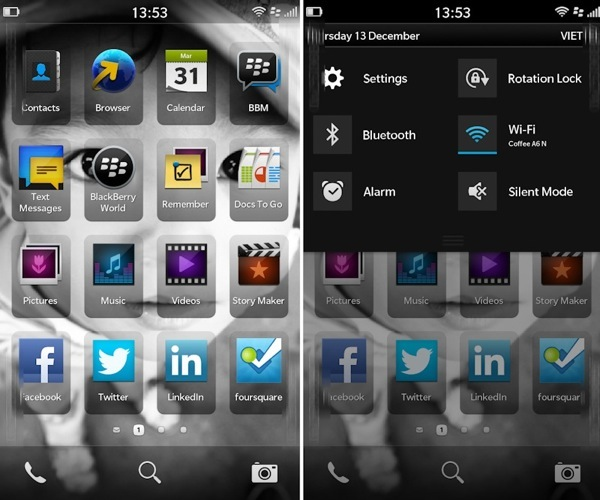 BlackBerry 10 UI Images