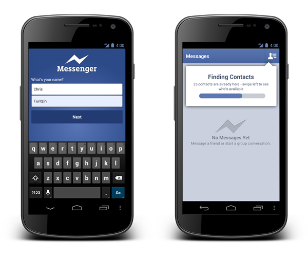 Facebook Messenger app on Android