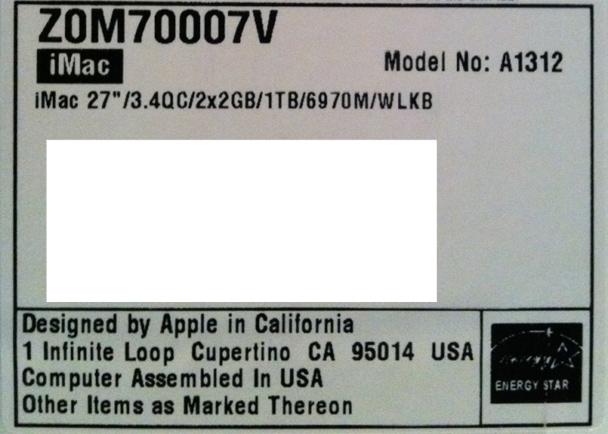 iMac Assembly USA