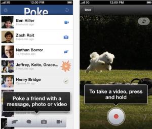 Facebook Poke Messaging App
