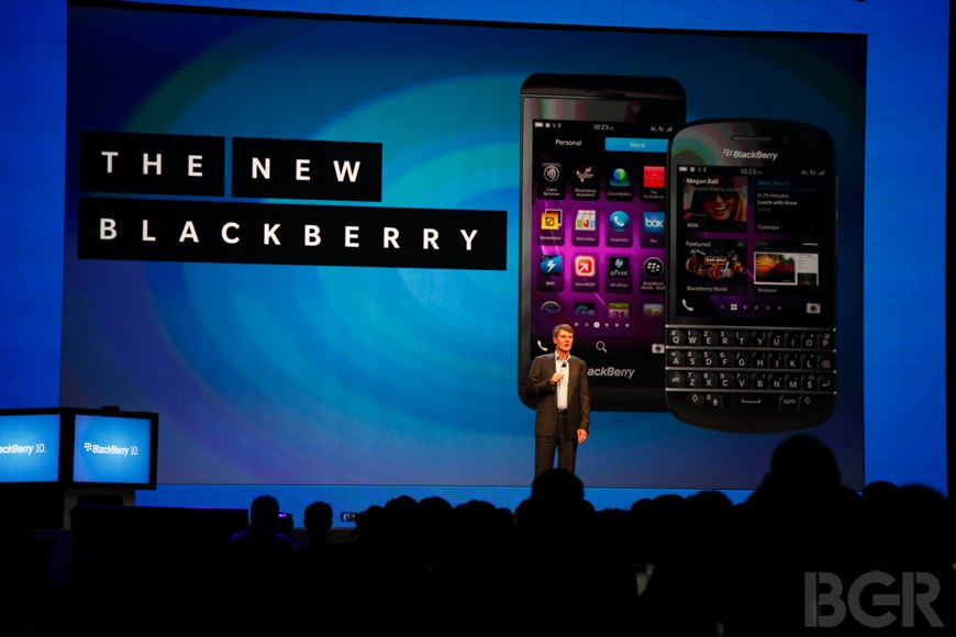 BlackBerry 10 Wall Street