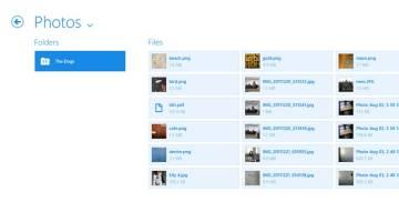 Dropbox Windows 8 App