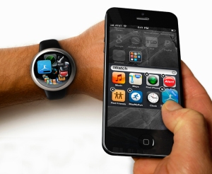 iWatch, iPhone Interaction Render