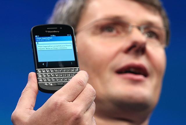BlackBerry CEO Heins Compensation