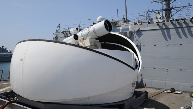 U.S. Navy Ship-Mounted Laser