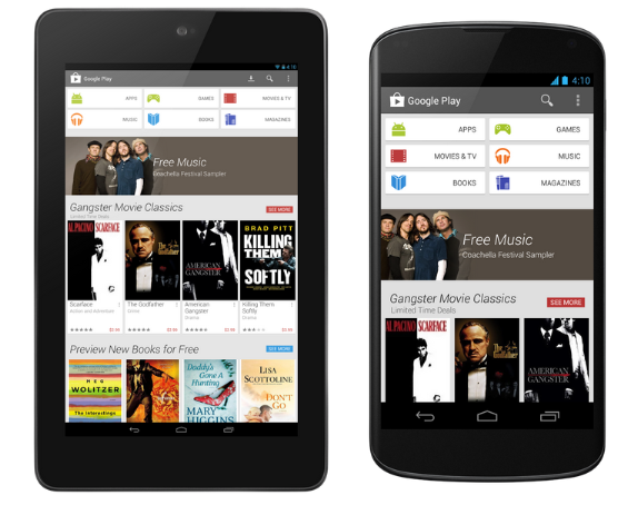 Google Play Redesign Available Now