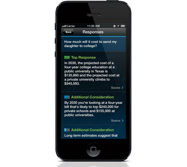 IBM Watson Smartphone Apps