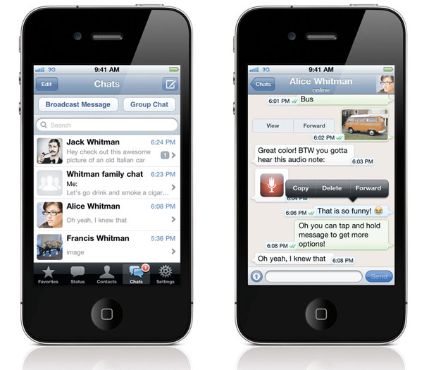 iPhone Messaging Apps Engagement