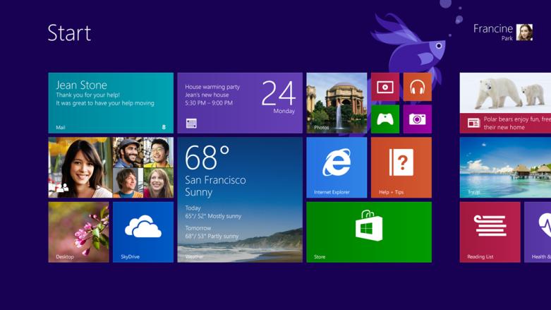 Windows 8.1 Preview Start Button