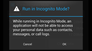 Android Privacy Incognito Mode