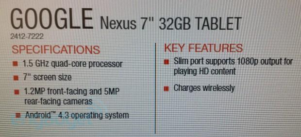 nexus 7 specs