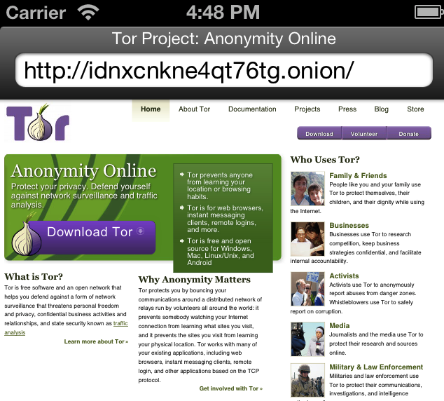Onion iOS Browser Anonymous