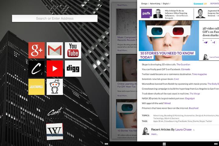 Coast Web Browser iPad