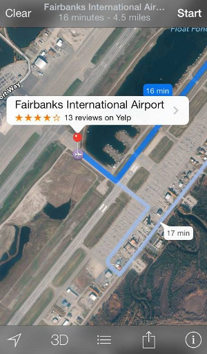 Fairbanks Apple Maps