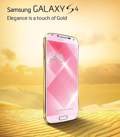 Gold Pink Galaxy S4