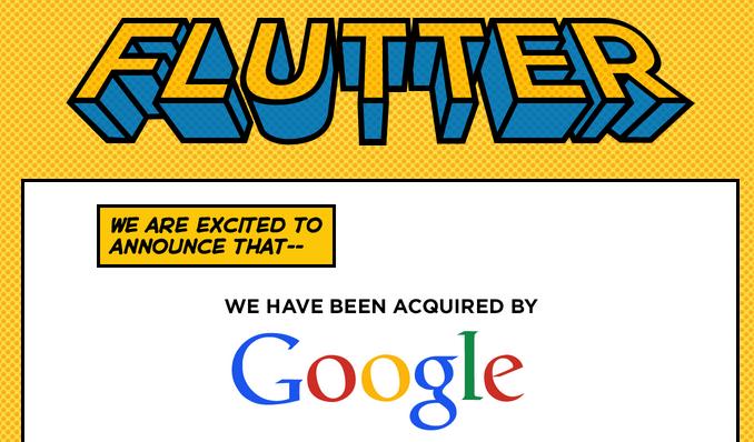 Google Flutter Acquisition Gesture Recognition Technology