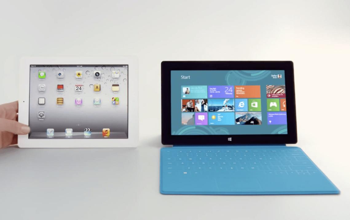 Apple iPad Microsoft Surface Comparison