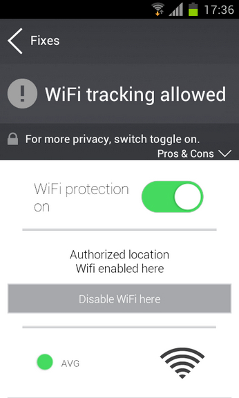 AVG PrivacyFix app