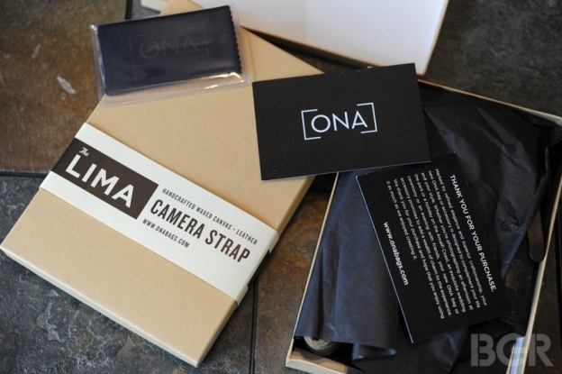 Ona Bags Lima Camera Strap Packaging