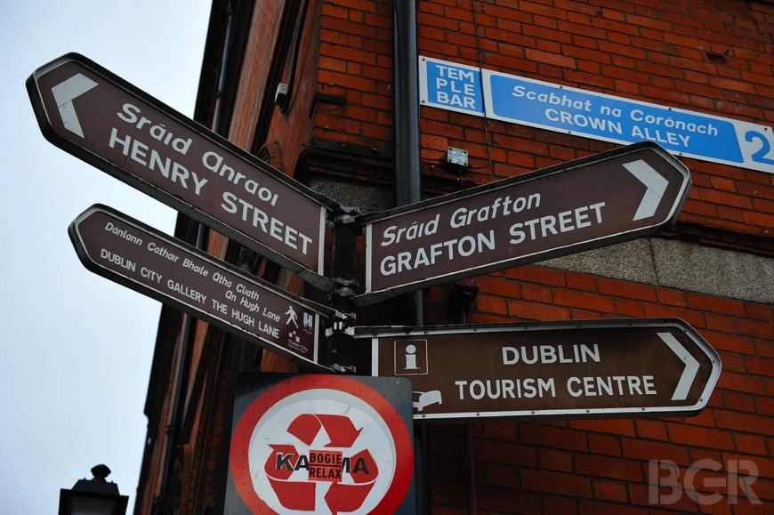 Signs in Dublin, Ireland