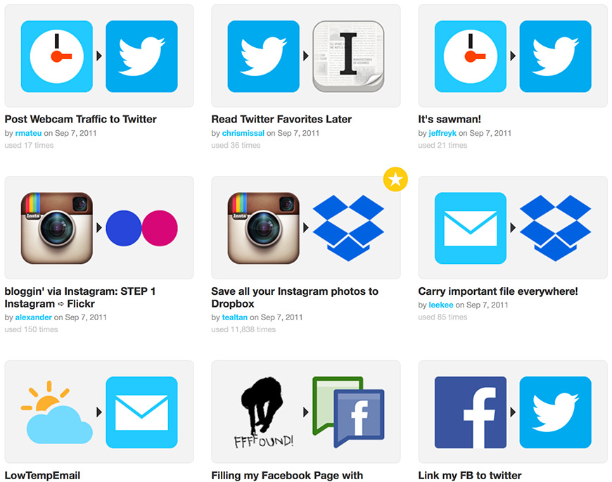 IFTTT Suggestions