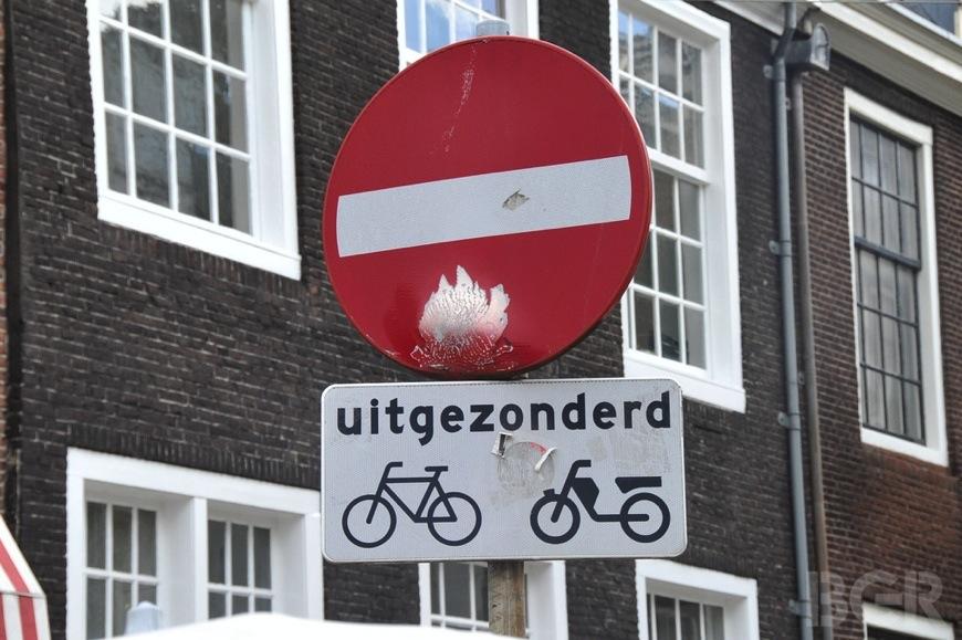 No Bikes Sign In Amsterdam