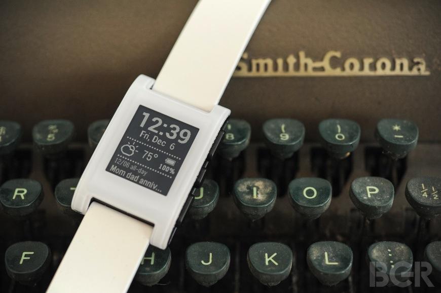 Pebble typewriter