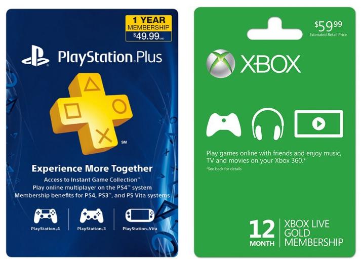 PS Plus vs Xbox Live Gold