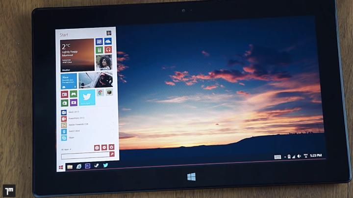 Windows 8.2 Start Menu Concept