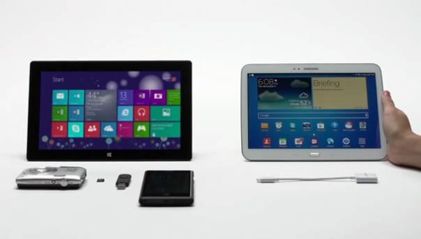 Microsoft Surface Vs Galaxy Tab 10.1