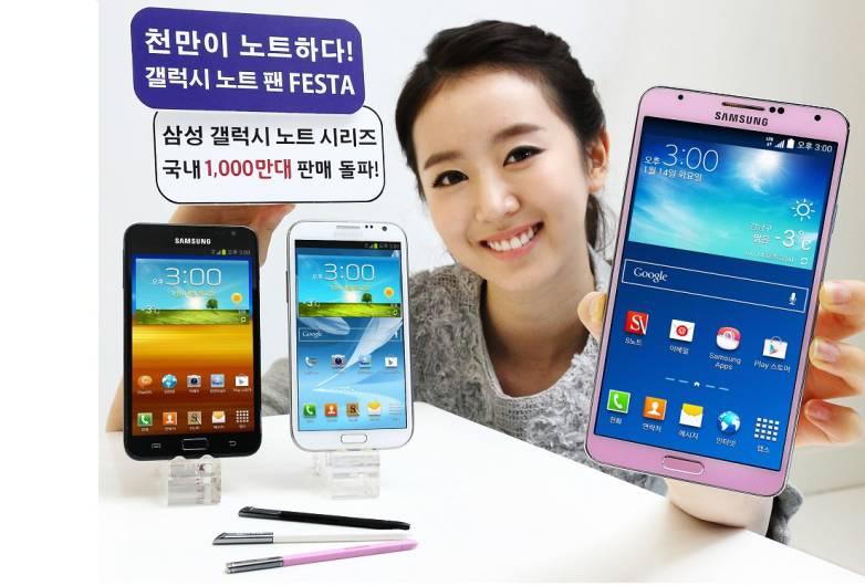 Samsung Galaxy Note Korea Sales