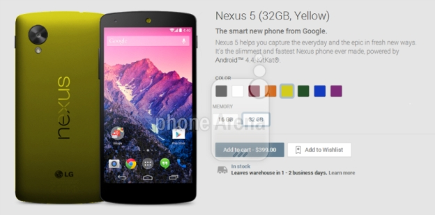 Video screenshot showing purported Google Nexus 5 colors | Image Credit: Phone Arena